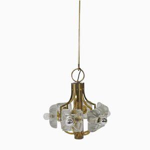 Lampe à Suspension Mid-Century en Laiton par Simon & Schelle pour Kalmar