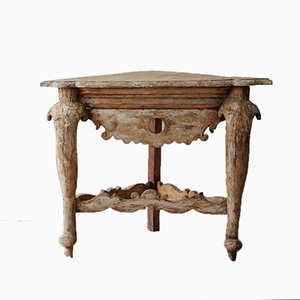 Table Console d'Angle North Antique Peinte, Italie