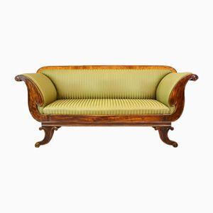 Viktorianisches Regency Mahagoni & Buchenholz Sofa, 1850er