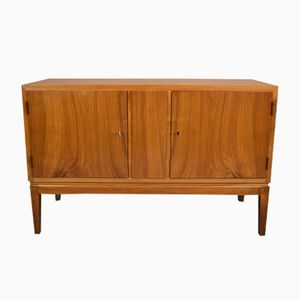 Mid-Century Danish Walnut & Elm 2-Door Sideboard Cabinet, 1950s