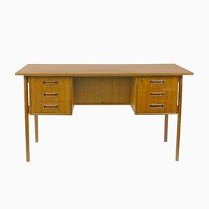 Danish Teak Desk by Gunnar Nielsen Tibergaard, 1960s