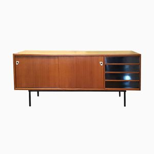 Mid-Century French Sideboard with Sliding Doors, 1960s