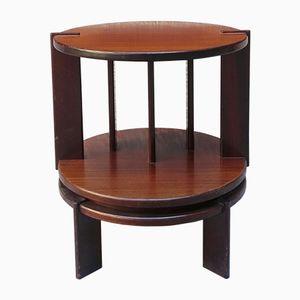 Mid-Century Italian Round Rosewood Coffee Table