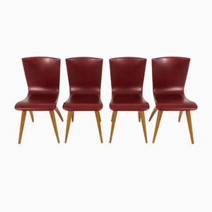 Swing Stühle von G.J. van Os Culemborg, 1950er, 4er Set