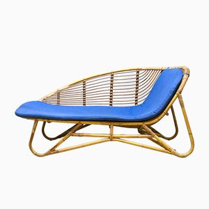 Rattan Chaise Longue from Rohe Noordwolde, 1960s