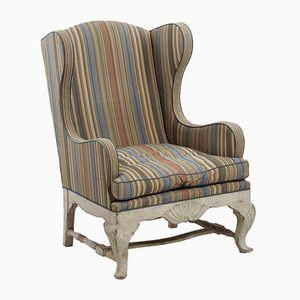 Antique Scandinavian Wing-Back Chair, 1910s