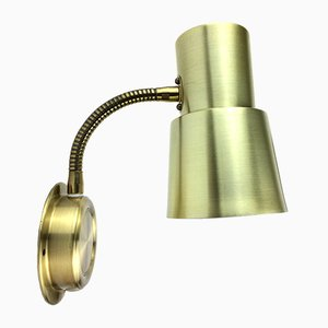 Mid-Century Danish Aluminum and Brass Wall Lamp