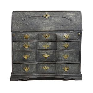 Scandinavian Secretaire with Bronze Hardware, 1750s