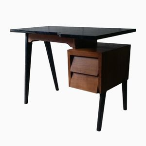 Vintage Office Desk with Compass Legs