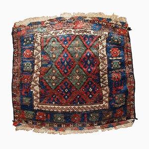 Persian Kurdish Handmade Bagface Rug, 1880s