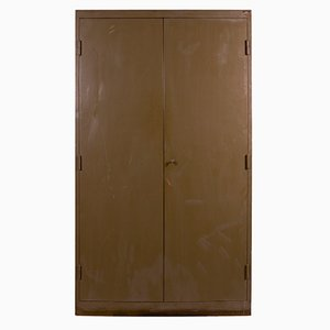Vintage Czech Brown Metal Cabinet
