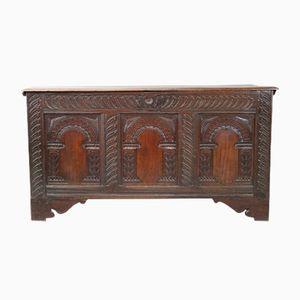 18th Century Antique Oak Coffer