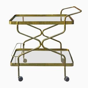 Brass and Glass Cart, 1960s