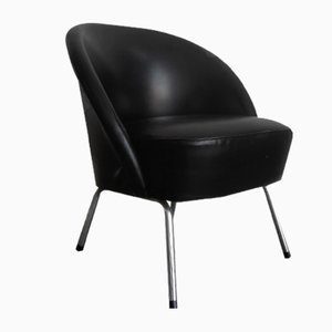 Vintage Black Cocktail Chair, 1960s