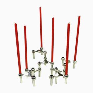 S22 Kerzenständer mit Kerzen von Fritz Nagel, 1960er, 7er Set