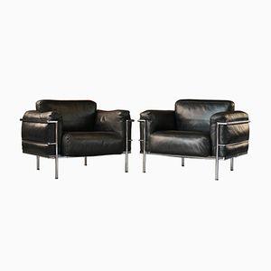 Vintage Grand Confort LC3 Sessel von Le Corbusier, P. Jeanneret, & C. Perriand für Alivar, 2er Set
