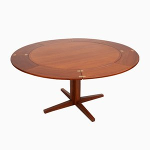Lotus Flip-Flap Dining Table from Dyrlund, 1960s