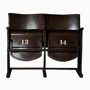 Vintage Zwei-Sitzer Kinobank von Thonet