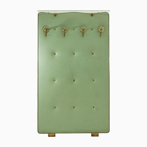 Mid-Century Glass and Brass Coat Rack, 1950s