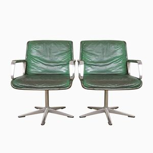 Leather Boardroom Chairs, 1970s, Set of 2