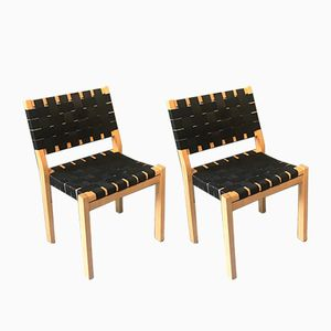 Vintage Model 611 Chairs by Alvar Aalto for Artek, Set of 2