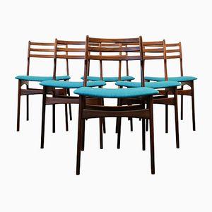 Teak Esszimmerstühle von R. Borrøgaard für Viborg Stølefabrik, 1950er, 6er Set