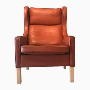 Danish Cognac Leather Armchair