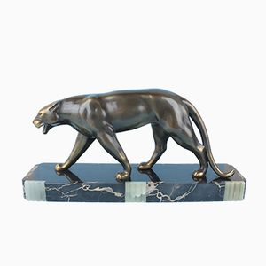 Art Deco Metal Panther by Ruchot, 1930s