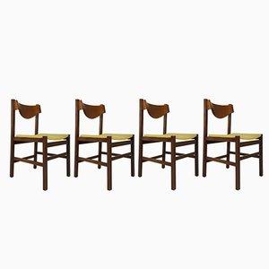 Chaises de Salon Vertes par Arch. Ramella pour Sormani, Italie, 1960s, Set de 4