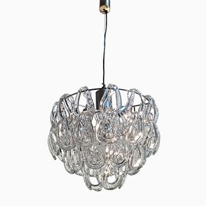 Vintage Giogali Crystal Chandelier by Angelo Mangiarotti for Vistosi