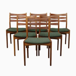 Oak and Teak Chairs from Skovby, 1960s, Set of 6
