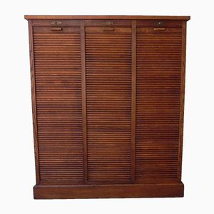 Oak Shutter Cupboard with 3 Doors, 1930s