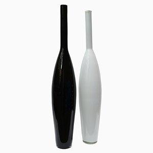 Vintage Italian Oversized Murano Bottles, 1970s, Set of 2