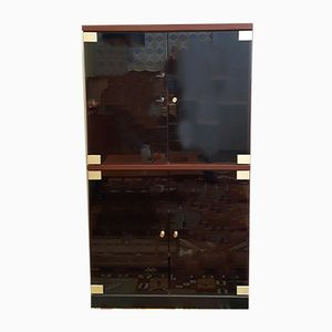 Smoked Glass Wall Unit, 1980s