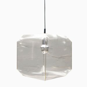 Clear Glass Bali Pendant by Bruno Munari for Danese, 1960s