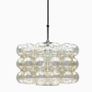 Clear Bubble Glass Pendant by Helena Tynell for Limburg, 1960s