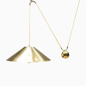 Brass Pendant with Counterweight by Florian Schulz, 1970s