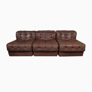 Swiss DS 11 Leather Sofa from de Sede, 1970s