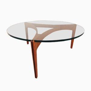 Teak & Glass Coffee Table by Sven Ellekaer for Christian Linneberg, 1960s