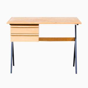Schreibtisch aus Birkenholz, 1960er