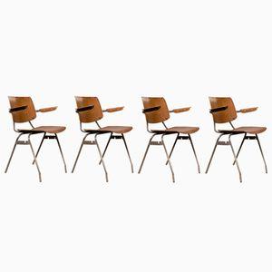 Chaises de Bureau par Kho Liang Ie pour Car, 1960s, Set de 4