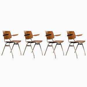 Office Chairs by Kho Liang Ie for Car, 1960s, Set of 4