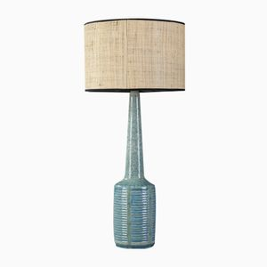 Blue Glazed Ceramic Table Lamp by Per Linnemann-Schmidt for Palshus Denmark