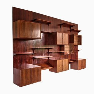 Mid-Century Danish Brazilian Rosewood Wall-Unit by Poul Cadovius, 1970s