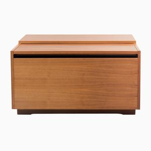 Table Basse Cubique en Noyer, 1960s