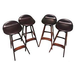 Mid-Century Rosewood Barstools by Erik Buck for Dyrlund, 1960s, Set of 4