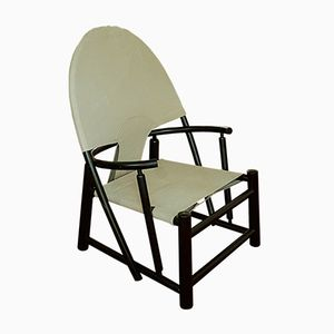 Danish Curved Black Wood Lounge Chair by Piero Palange & Werther Toffoloni, 1950s