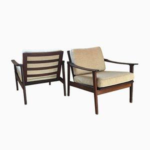 Skandinavische Vintage Sessel, 1960er, 2er Set