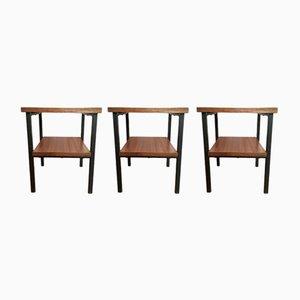 Formica Side Tables, 1960s, Set of 3