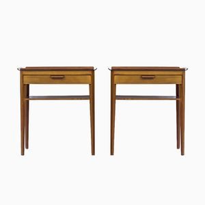 Swedish Night Stands by Bertil Fridhagen for Bodafors, 1958, Set of 2